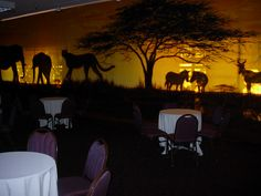 Africa themed event at Chaminade Resort.