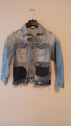 Check out this item in my Etsy shop https://www.etsy.com/ca/listing/581135678/upcycled-denim-unisex-jacket-one-kind