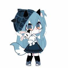 Chibi Girl Drawings, Cute Drawings, Anime Wolf Girl, Kawaii Anime Girl, Arte Do Kawaii, Club Hairstyles, Drawing Anime Clothes, Club Design, Club Outfits