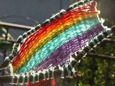 11 Artsy Yarn Crafts for Kids - Craft Paper Scissors Yarn Crafts For Kids, Arts And Crafts, Guerilla Knitting, Branch Decor, Weaving Projects, Kid Projects, Yarn Bombing, Loom Weaving, Weaving Art