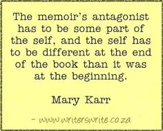 Find out more about the author here ~~~ Writers Write offers the best writing courses in South Africa. Writers Write - Write to communicate Writing Courses, Writing Resources, Writing Tips, Mary Karr, Writing Folders, Improve Writing, Grammar Humor, A Writer's Life, Writer Quotes