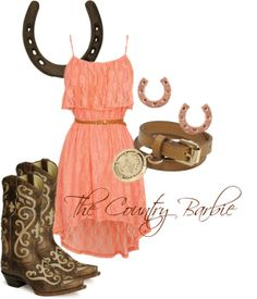 Looks cool for a girl I love. Country Style Outfits, Country Girl Style, Country Dresses, Country Fashion, My Style, Southern Style, Cowgirl Outfits, Cowgirl Style, Western Outfits