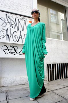 Hey, I found this really awesome Etsy listing at https://www.etsy.com/listing/153964601/green-asymmetric-kaftan-maxi-dress-loose