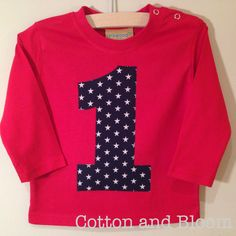 Age 1 / First Birthday Applique Toddler Top by CottonandBloom
