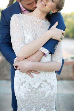 Shannon & Luke's Spring in the Desert Wedding // Photography: Evan Robold Photography // Wedding Planning: Lindsay Bishop Events #tucsonwedding #laceweddingdress #artisticweddingphotos #weddingportraits #desertwedding