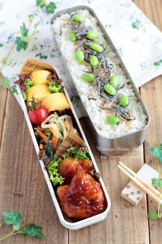 Everyday is a day of lunch for you ♪ Bento Recipes, Baby Food Recipes, Japenese Food, Anime Bento, Japanese Lunch Box, Food Packaging Design, Bento Box Lunch, Food Decoration, Health Eating