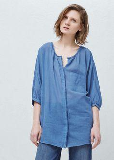 Oversize blouse - Shirts for Women | MANGO USA