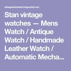 Stan vintage watches — Mens Watch / Antique Watch / Handmade Leather Watch / Automatic Mechanical Watch (WAT0041-Gold)