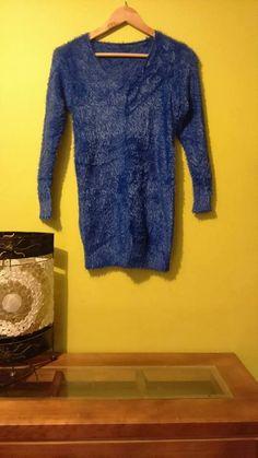 Sweater Peludo Azul $12000