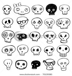 Skull doodles from shutterstock.com