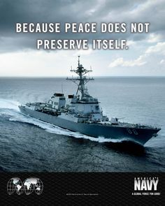 Your #USNavy, guardians of peace, victorious at war.