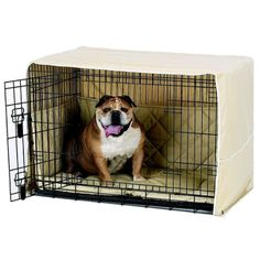 Side Door Crate Covers from RadioFence.com gives you the style you want for you house and the comfort your dog deserves! Includes cover, crate bed, and side bumpers for added comfort! Even includes a FREE crate training brochure endorsed by top veterinarians and trainers. Comes in brown or khaki and many sizes to fit all crates starting at only $53.95 with FREE SHIPPING! (http://www.radiofence.com/side-door-crate-covers/)