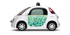 Google Self Driving Cars may look small, but has a big map of the streets compared to other cars. #TakingOverTheRoad