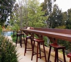 Bar built into the deck railing~great for the kids in the summer