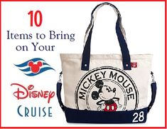 10 Items to Bring on a Disney Cruise