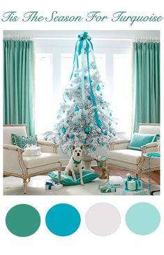 Blue Turquoise Teal Christmas Tree !: