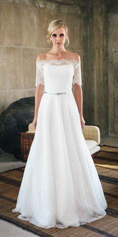 Brautkleid Schlicht Spitze | Die 20 Besten Bilder Von Hochzeitskleid 2017