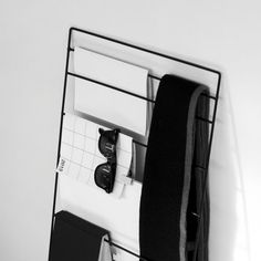 Minimalist Magazine Rack in Black / Book Holder by ADesignprojects