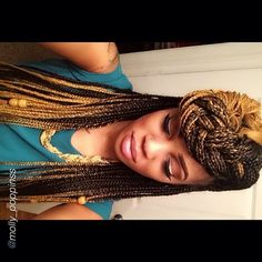 awesome two toned box braids