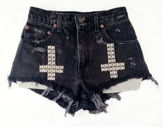 Vintage high waist shorts, cutoff shorts, shredded shorts, shredded jeans, destroyed denim, destroyed shorts, grunge style, omen eye shorts, Omen Eye, omeneye, cutoff shorts, jean shorts, studded denim, studded shorts, studded cut offs, distressed jeans, distressed shorts, high waisted shorts, cut off, coachella, coachella 2012, festival style, festival shorts, Levis shorts, vintage Levi's