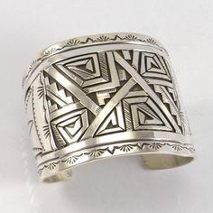 Silver Overlay Cuff Bracelet