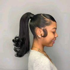 Hair Ponytail Styles, Braids Hairstyles Pictures, Black Girl Braided Hairstyles, Sleek Ponytail, Box Braids Hairstyles, Curly Hair Styles, Natural Hair Styles, Black Women Hairstyles, Hairstyle Ideas