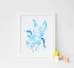 Pegasus Poster Pegasus Nursery print Hercules disney art nursery decor boy nursery wall art boy nursery art boy nursery prints boy artwork