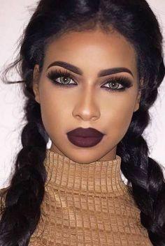 South Africa Makeup Tutorials Makeup Ideas For Black Girls Make Up Inspirations Makeup Trends Beauty Makeup Ideas To Look Sexy Cat Eye Makeup, Simple Eye Makeup, Eye Makeup Tips, Makeup Hacks, Cute Makeup, Gorgeous Makeup, Makeup Goals, Skin Makeup, Natural Makeup