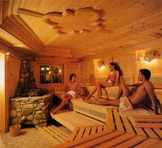"""Reference, """"Tyrol"""" - Sauna produced with 250 years old wood from old Farmer Houses Sauna Steam Room, Shipping Container Cabin, Outdoor Sauna, Meditation Rooms, Spa Rooms, Saunas, Wellness Spa, Spa Massage, Homesteads"""