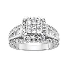 Spectacular Fred Meyer Jewelers ct tw Diamond Centerpiece Engagement Ring