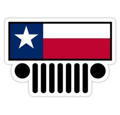 Texas Jeep sticker