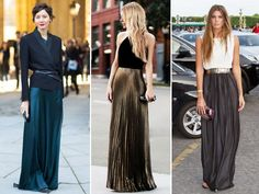 Diversos modelos de saia longa moda 2017 para inspirar você: Aprenda como usar, como combinar e como montar looks com saias longas.