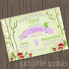 Hey, I found this really awesome Etsy listing at https://www.etsy.com/listing/201397524/fairy-invitation-woodland-fairy-invite
