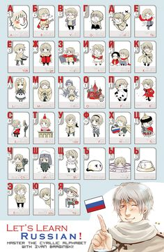 APH: Let's Learn Russian by ~kagami222 on deviantART