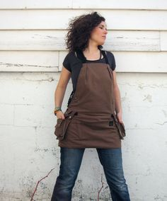 Brown Multi Purpose Utility Apron with Double Cargo by EarthWorker, $140.00