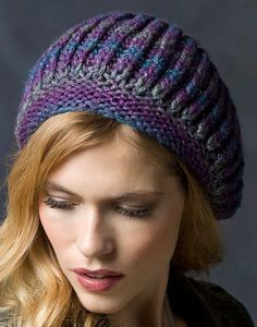 Free Knitting Pattern for Faux Brioche Beret