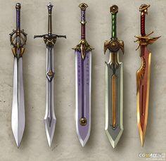 #Weapon #Sword 游戏剑武器原画