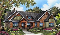 ePlans Craftsman House Plan – Craftsman Cottage With Open Living Space – 1743 Square Feet and 3 Bedrooms from ePlans – House Plan Code Craftsman Style House Plans, Ranch House Plans, New House Plans, Small House Plans, House Floor Plans, Craftsman Cottage, Craftsman Exterior, Exterior Trim, Exterior Paint