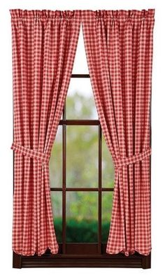 Breckenridge Scalloped Lined Short Panel Curtains 63""