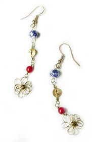 Quiet Lion Creations by Allison Beth Cooling: Dainty Abstract Flower Earrings