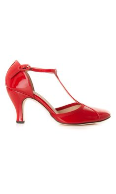 "Repetto patent leather flammy red t-strap shoe ""Baya"" - #sandals  #ss13 www.sansovinomoda.it"