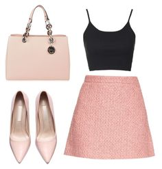 Black and Pink by beatrice-gabrielle on Polyvore featuring polyvore, fashion, style, Topshop, Gucci, MICHAEL Michael Kors and clothing