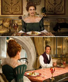 Mirror Mirror (2012) Starring: Julia Roberts as the Queen Clementianna, The Evil Queen, Snow White's evil stepmother; and Armie Hammer as the Prince Andrew Alcott. (click thru for larger image)