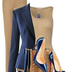 Taupe and dark blue: interesting combination!