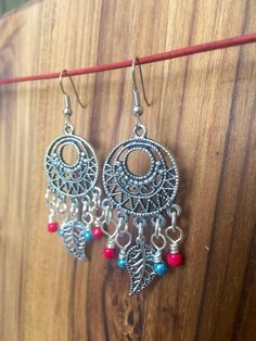 Boho Chandelier Earrings, Feather Earrings, Silver Feather Earrings, Boho Dangle Earrings, Gypsy Earrings