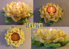 This is a pretty tea light lotus flower... Free pattern!