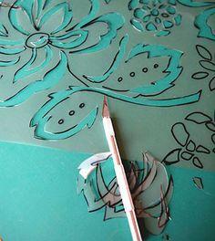 Como fazer pintura stencil no piso | Vila do Artesão
