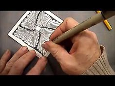 How to Draw Zentangle Pattern Biscus Lesson #5 By Melinda Barlow CZT - YouTube