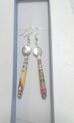 Check out this item in my Etsy shop https://www.etsy.com/uk/listing/449229734/earrings-upcycling-magazines