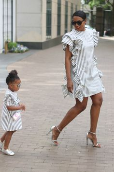 Coming up on stripes and ruffles using and vintage with lots of… Ruffle Dress, Striped Dress, I Dress, Dress Outfits, Ruffles, Strapless Dress, African Fashion Dresses, African Dress, Vestido Tommy Hilfiger